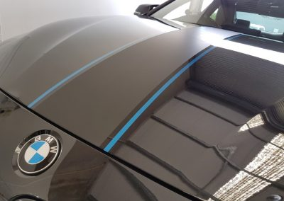 BMW bonnet stripes - black with black and blue (2) (Medium)