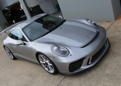 Porsche 911R stripes - silver (7) (Medium)